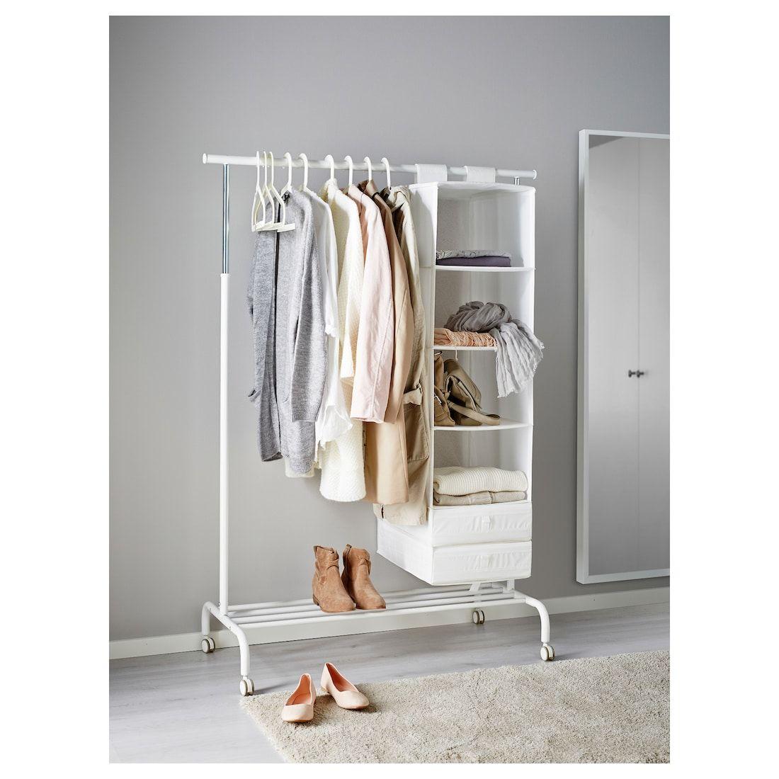 RIGGA Clothes rack – white – IKEA
