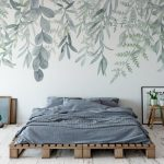 Rainforest Wallpaper Mural, Peel and Stick, Wall Mural, Leaves, Wall Decal, Leaf, Wall Covering, Green Decor, Nature Decor
