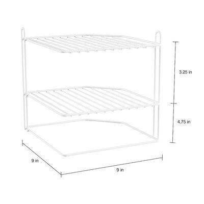 Rebrilliant Jennings 8.75″ H x 9″ W Corner Shelving Unit | Wayfair