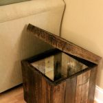 Reclaimed Pallet Wood Furniture - Storage Cubed Ottoman - Stained