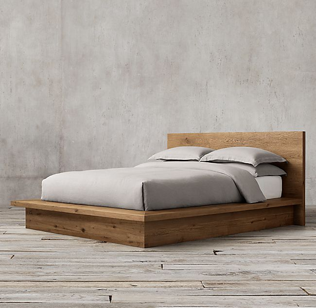 Reclaimed Russian Oak Platform Bed