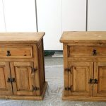 Refinish mexican pine....  Nightstands before they were painted. I am definately...