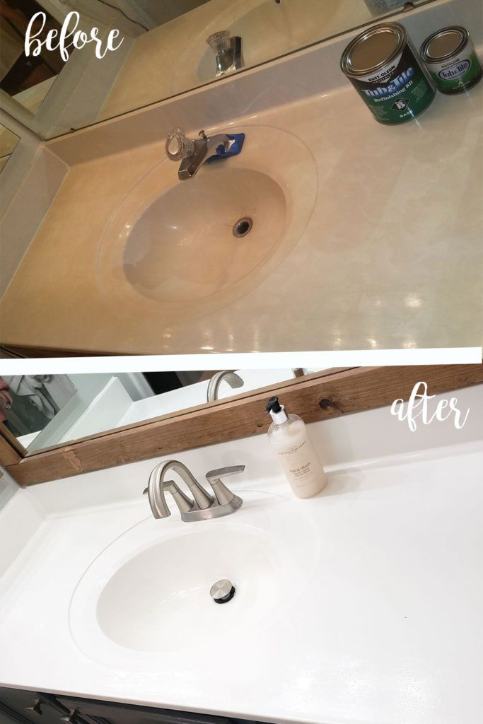 Refinished Bathroom Sink and Shower/Tub – The House Brew