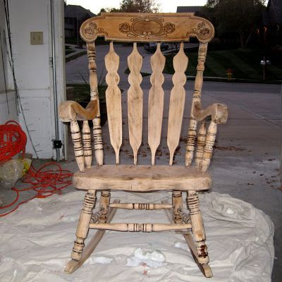 Refinishing A Rocking Chair   Between3Sisters