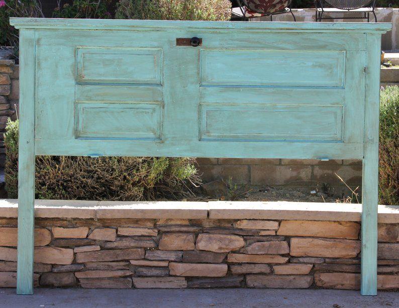 Repurposed Wood Door Headboard Queen, King, Full/ Double, Twin By Foo Foo La La