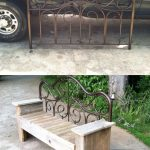 Repurposed and Upcycled... Great flea market find-metal headboard $3! We had som...