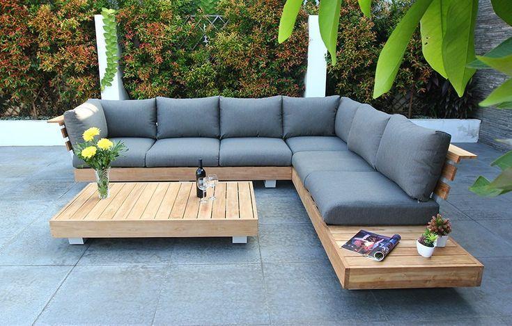 Résultat d'image pour Ensemble de salon de jardin en teck #bildgebnis #gardenfurniture … – makalemerkez.com/patio
