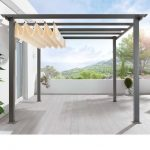 Retractable Awning. Great idea for in front. Shade when your sitting out, but wo...