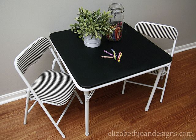 Revamped Mini Folding Table and Chairs – ELIZABETH JOAN DESIGNS