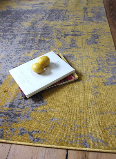 Revive RE11 Mustard Yellow Rug… A subdued mustard type of yellow alongside lig…