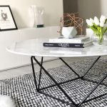Robin Marble Coffee Table With Black Base - Coffee Table - Ideas of Coffee Table...