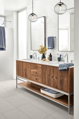 Room & Board –  Modern Linear Vanity with Steel Base – Modern Bathroom Vanities – Modern Bath Furniture