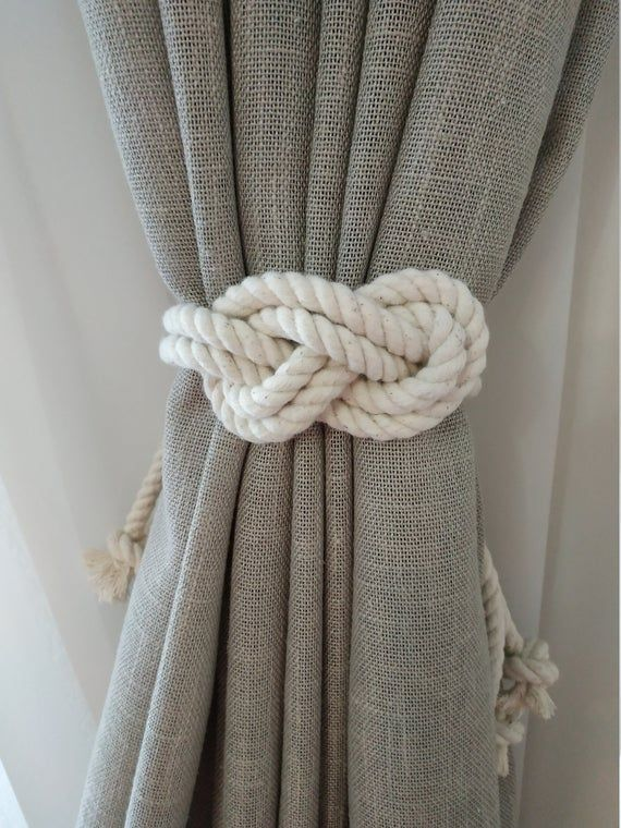 Rope Curtain Tie Backs Nursery Curtain Gypsy Décor Boho Rope Curtain Tie Back Curtain Hooks Curtain Holdback Rustic Nautical TieBacks