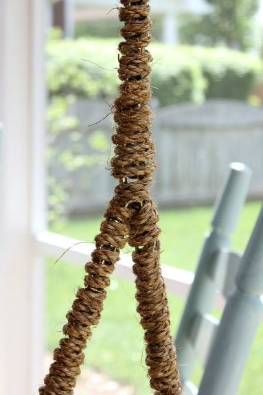 Rope Wrapped Chain for a Porch Swing