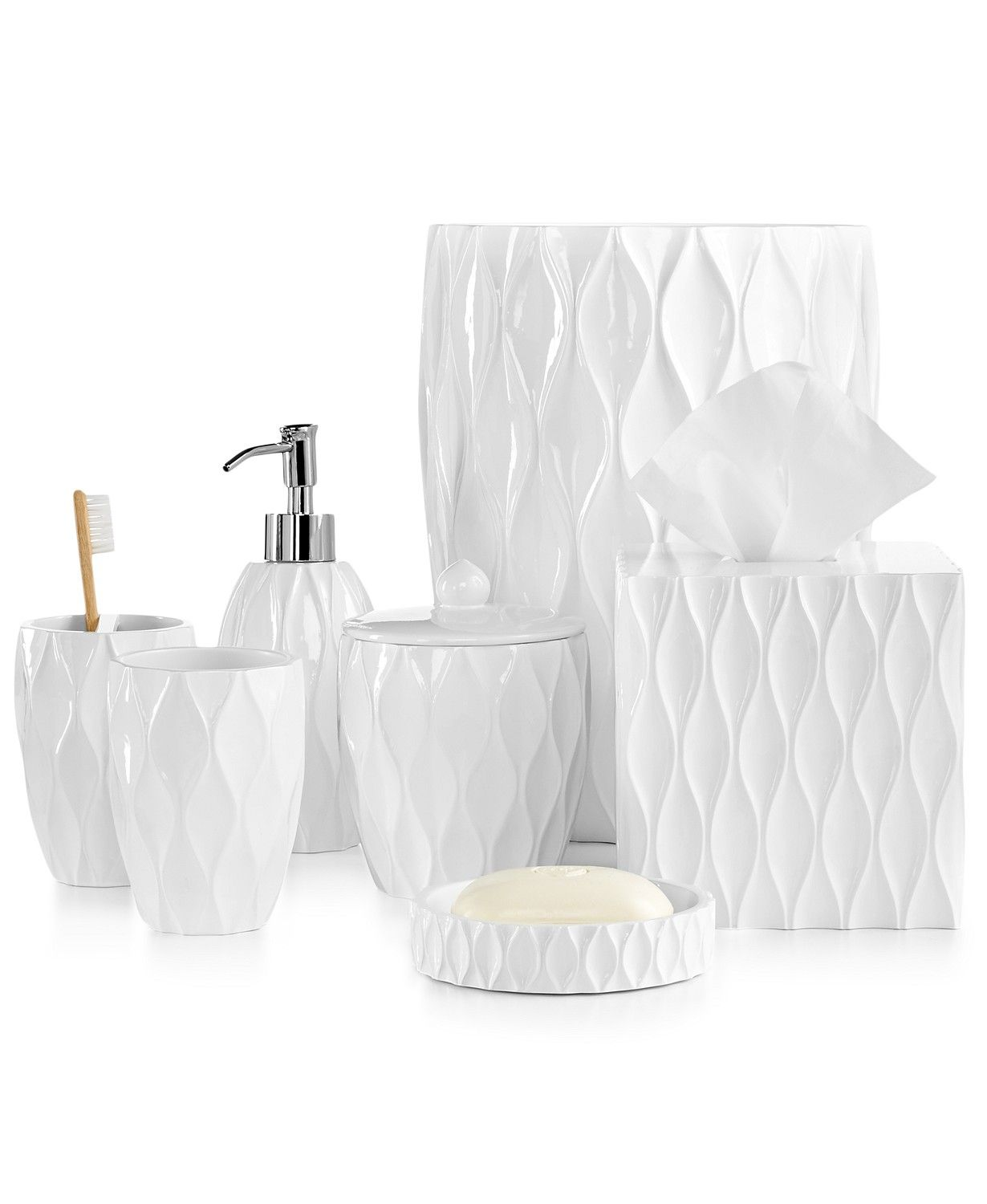 Roselli Trading Company Roselli Trading Wave Bath Accessories Collection & Reviews – Bathroom Accessories – Bed & Bath – Macy's