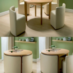 Round Dining Table & Chairs for Small Homes
