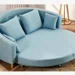 Round fabric sofa bed,functional fabric sofa