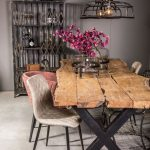 Rustic Industrial Live Edge Dining Table – Limited Abode