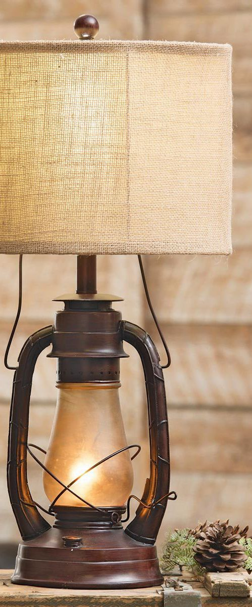 Rustic Vintage Lamp | Slate Mountain Table & Floor Lamps