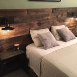 Rustic Wood Headboard, Distressed, Headboard, Reclaim, Cabinets, USB Outlets, Lights, Barnwood, Modern Headboard