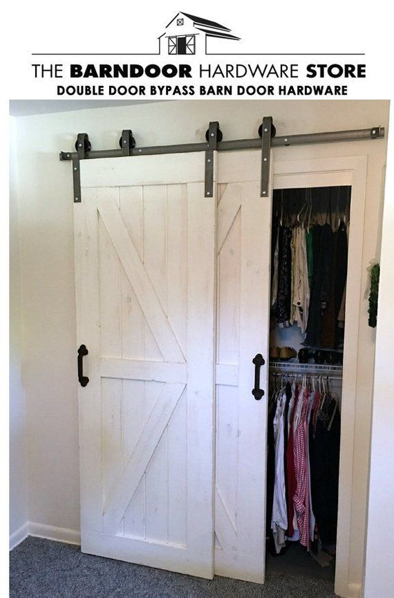 SALE! Double Door Bypass Barn Door Kit on a Single 78″ Rail. Limited Quantities available – Free Shipping – Doors are NOT Included