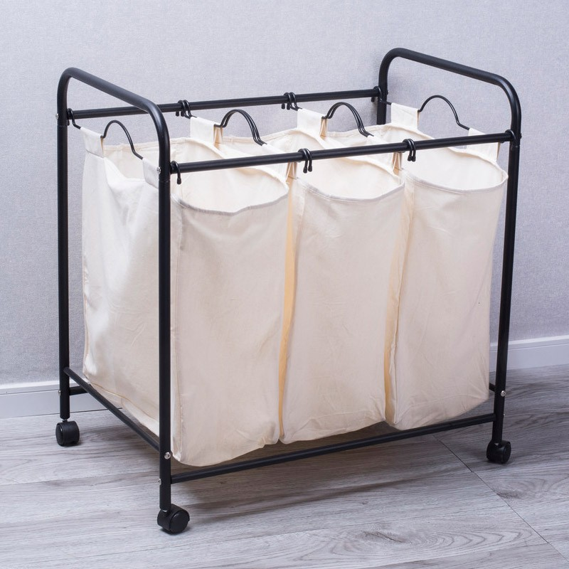 SANAM Laundry Hamper with Triple Sorter