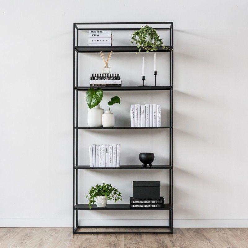 SIMPLEX Regal Bücherregal Büroregal Metall Raumteiler Schwarz Weiß