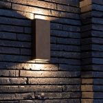 SIMPLY PILLAR up/down Wall medium Brass LED | Architonic