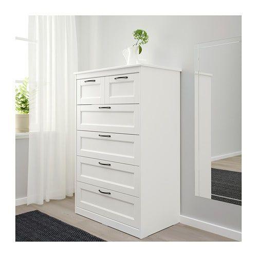 SONGESAND 6-drawer chest – white – IKEA