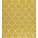 STOCKHOLM Rug, flatwoven - net pattern handmade, net pattern yellow yellow - IKEA