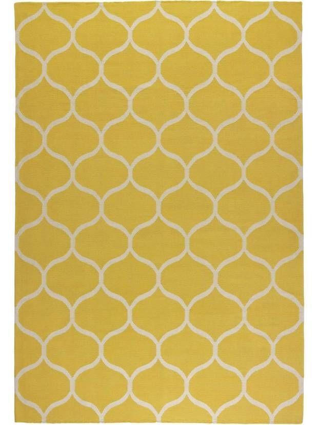 STOCKHOLM Rug, flatwoven – net pattern handmade, net pattern yellow yellow – IKEA
