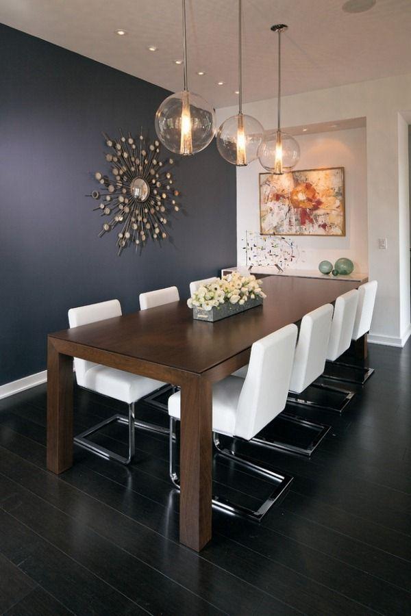 Salle à manger idées bois table à manger chaises cantilever blanc – worldefashion.com/decoration