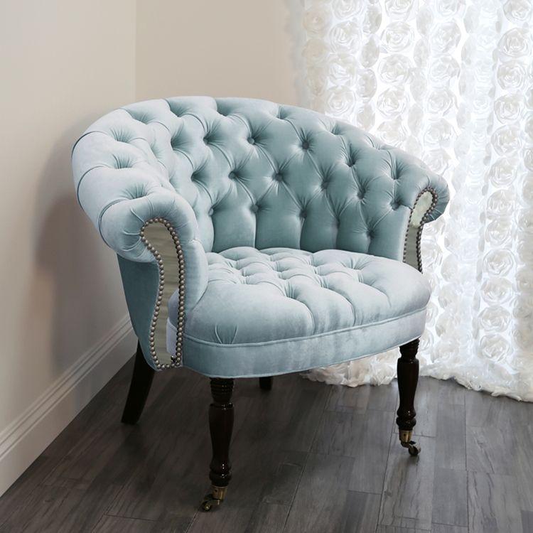 Sausalito Mirrored Chair – Velvet Cuddle Chair