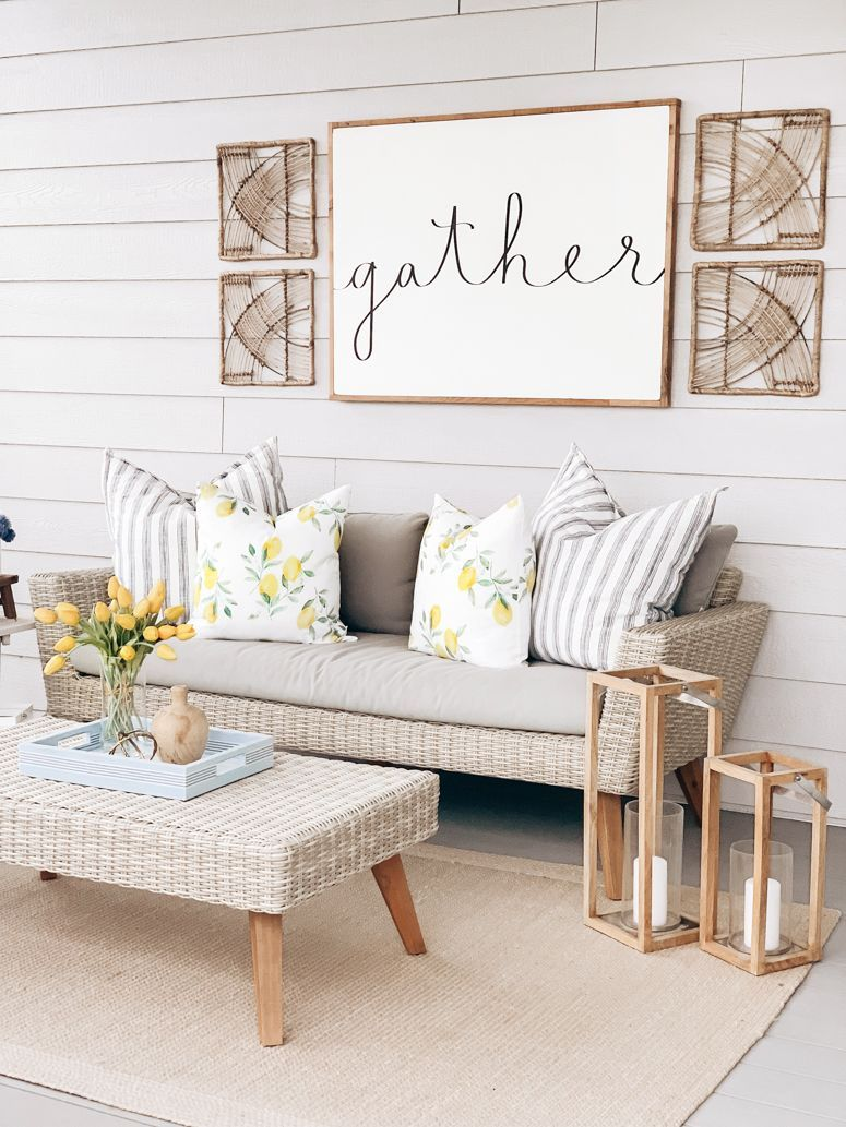 Screened In Porch Ready For Summer, World Market rattan wicker outdoor furniture… – pickndecor.com/furniture