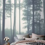Sea of Trees Forest Mural Wallpaper | Misty Forest | MuralsWallpaper
