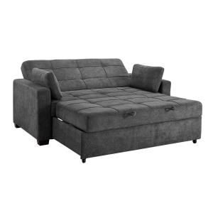 Serta Harrington Grey Queen Convertible Sofa SA-HPTSA3TM3011 – The Home Depot