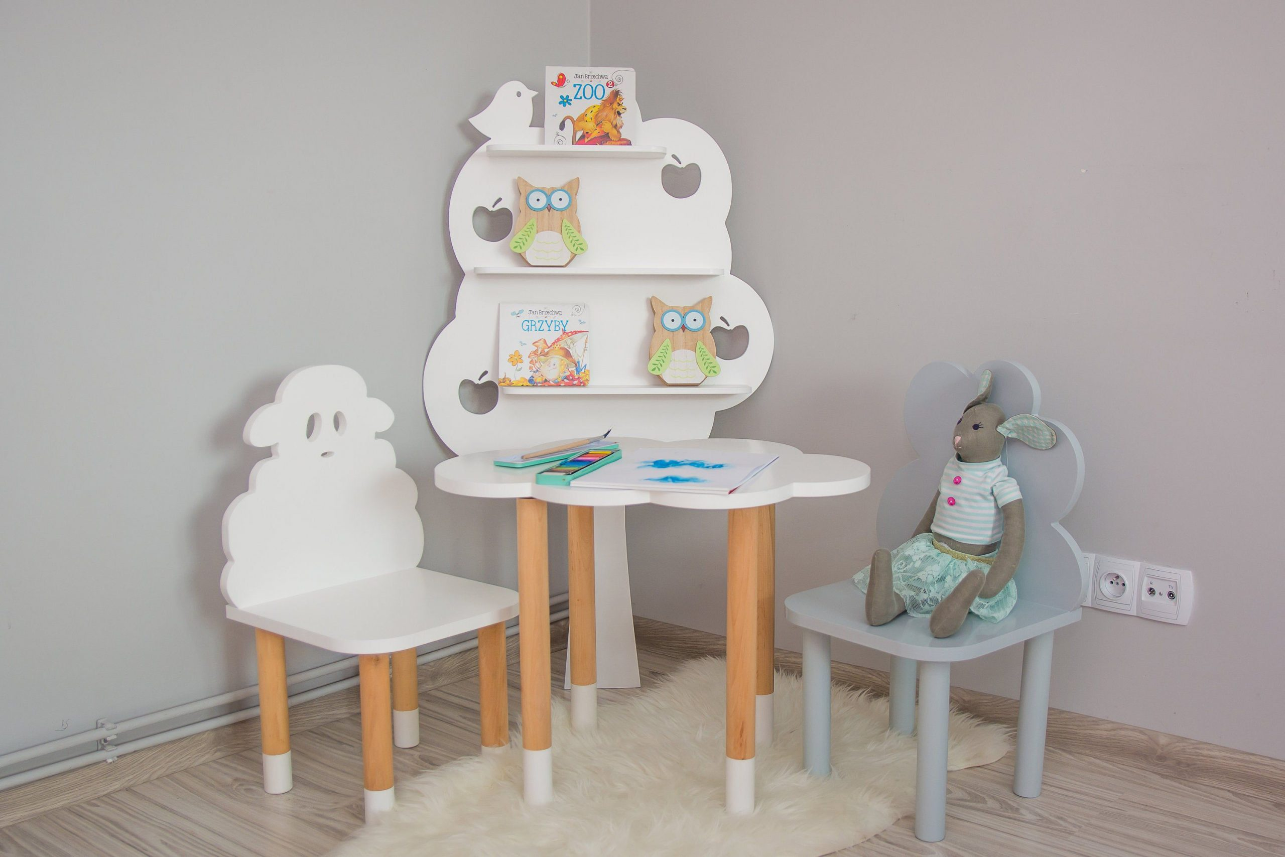 Set of TWO CHAIRS and TABLE(any shape and colour), Kids Furniture, Toddler Gift, Baby Furniture, Kids Chair, Baby Decor, Wooden Baby Chair
