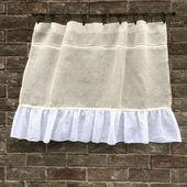 Sheer #Linen #Curtain, #Natural #Rustic #Kitchen #Window #Curtain, #Bathroom #Curtain, #Frenc…
