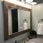 Shiplap Reclaimed Wood Mirror Shown in Special Walnut, 4 Sizes & 20 Stains - Rustic Mirror - Bathroom Vanity Mirror - Large Wall Mirror