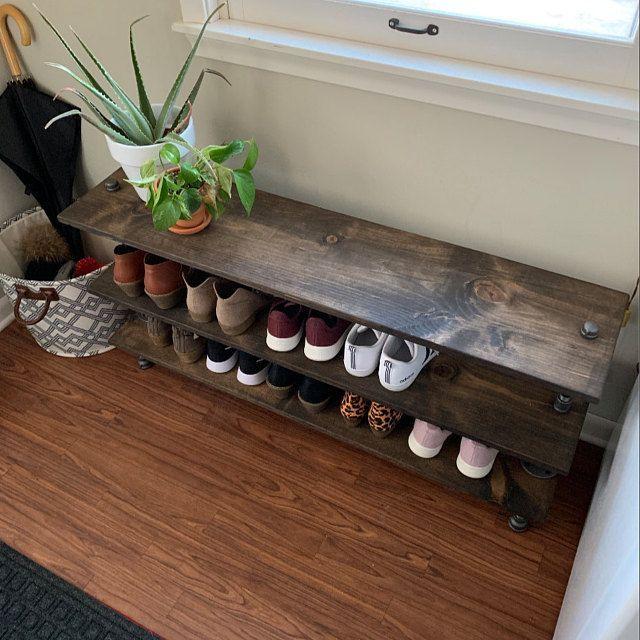 Shoe Rack, Entryway Organizer, Shoe Rack, Shoe Organizer, Entryway Bench, Entryway furniture, Sneaker Storage, Boot Storage