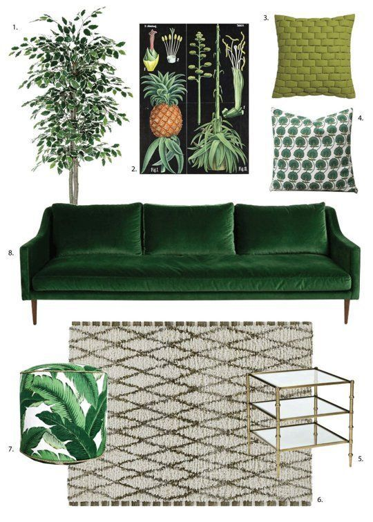 Shop The Trend: How To Get the Dark, Moody Botanical Look in 3 Very Different Style Rooms – pickndecor.com/design