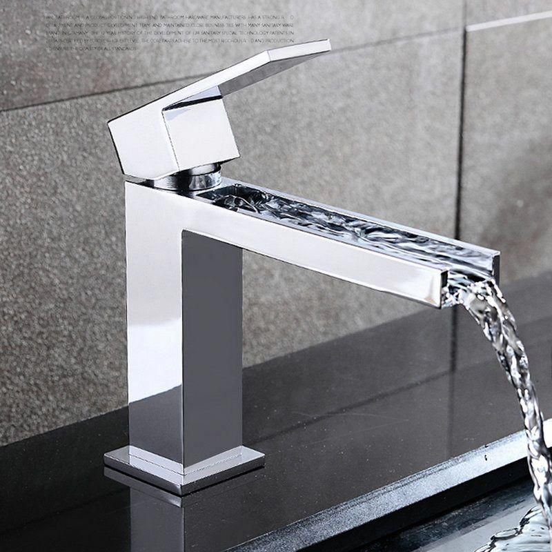 Shop for Modern Simple Style Chrome Plating Bathroom Sink Faucet Deck Mounted Si…