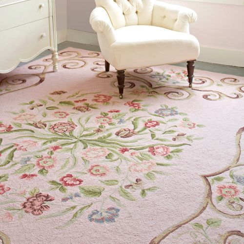 Siena Faded Rose Wool Hooked Rug – pickndecor.com/furniture