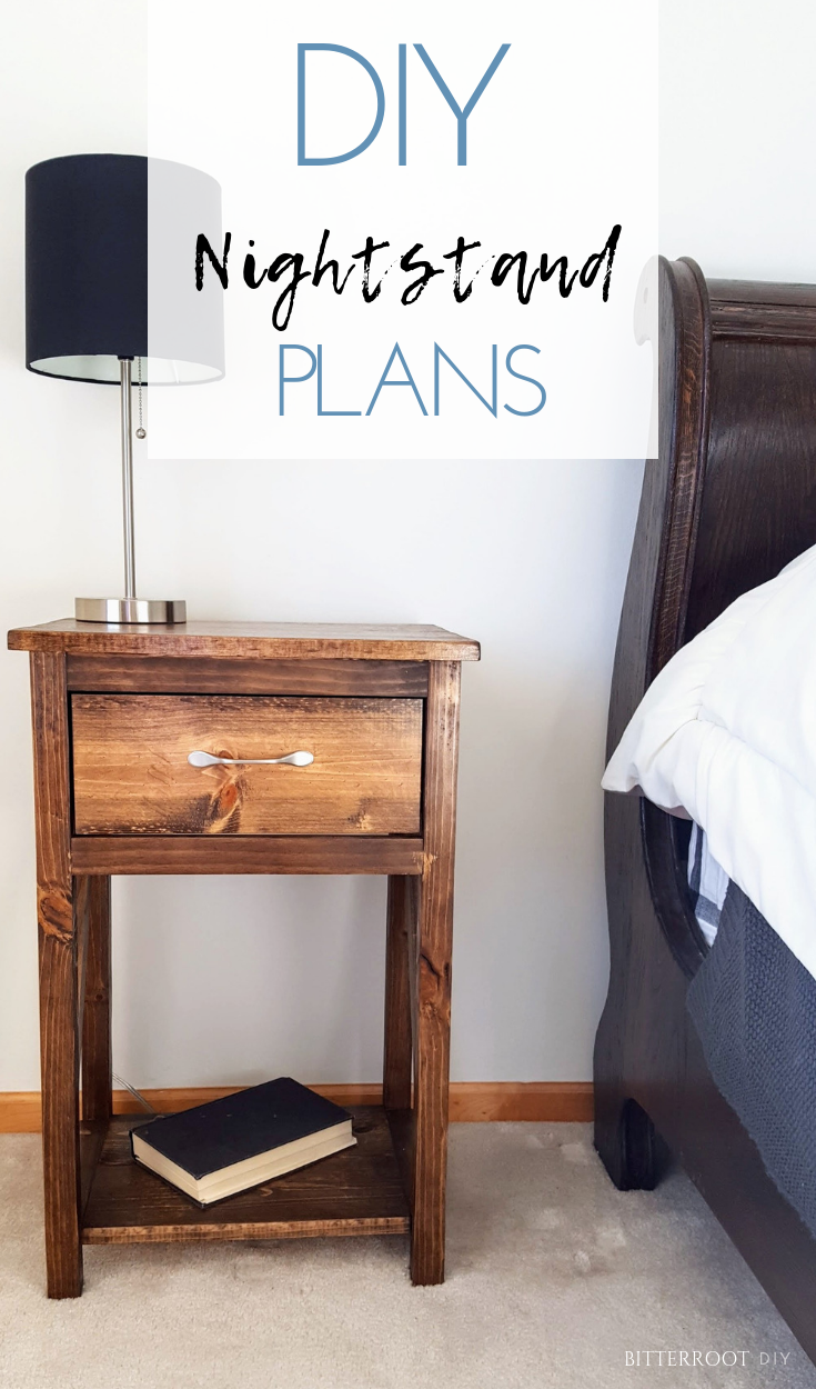 Simple One Drawer DIY Nightstand |