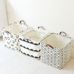 Simple Style Waterproof Linen Portable Storage Baskets Home Clothes Toy Bathroom...