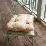 Simple Tie On DIY Chair Cushion in an Hour - DIY Candy