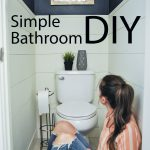 Simple water closet makeover that can be done in a weekend! Love the shiplap and...