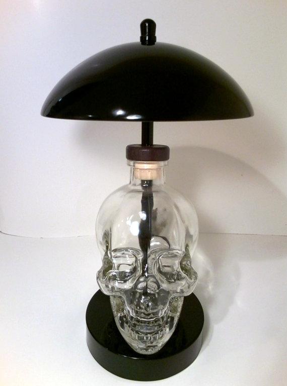 Skull touch lamp,Skull Light, Skull Lamp, Bottle Touch Lamp,Bar Light, Bar Lamp, Skull Vodka