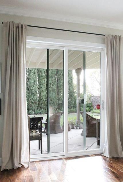 Sliding door curtains ideas kitchens 32 Ideas