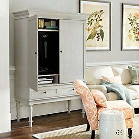 Slim Chadwick Media Armoire – pickndecor.com/furniture
